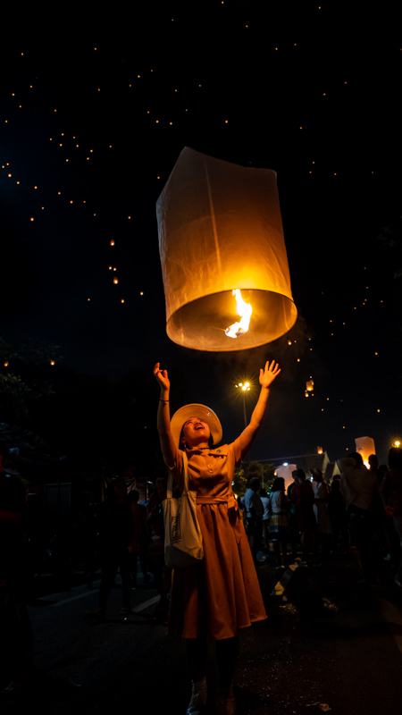 Releasing the Lantern | Chiang Mai, Thailand by Robert Metz