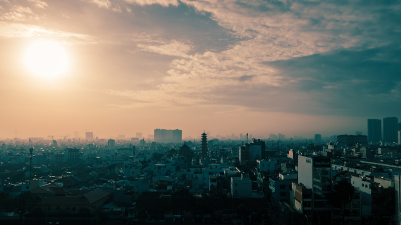 Sunrise over Saigon | Ho Chi MInh City, Vietnam by Robert Metz