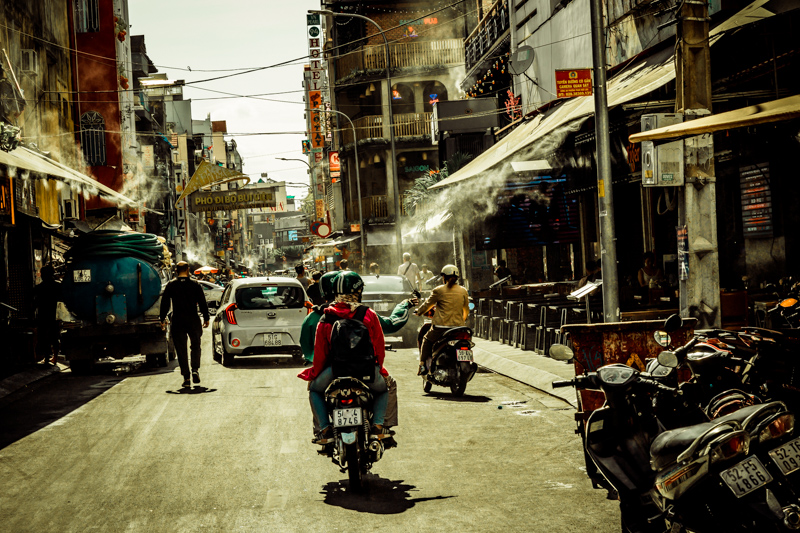 Hot.Steamy Day at Bui Vien Road | Ho Chi Minh City, Vietnam by Robert Metz