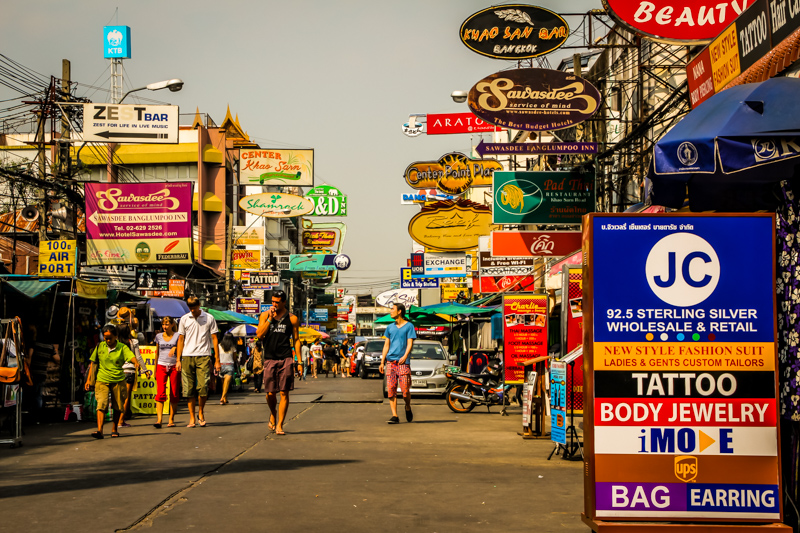 Khao San Road by Day | Bangkok, Thailand by Robert Metz