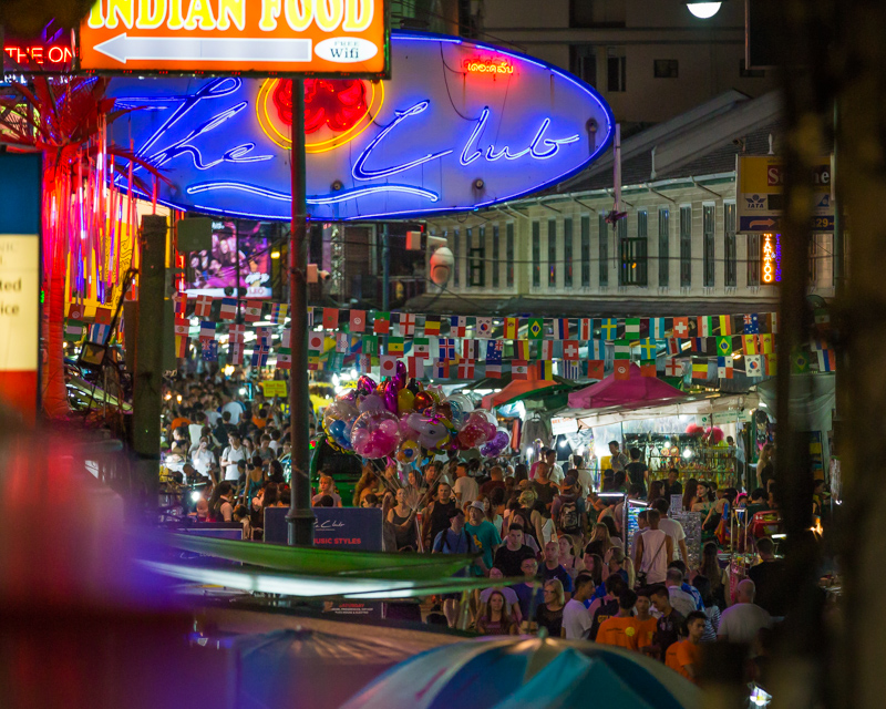 Crowds at Khao San Road | Bangkok, Thailand by Robert Metz