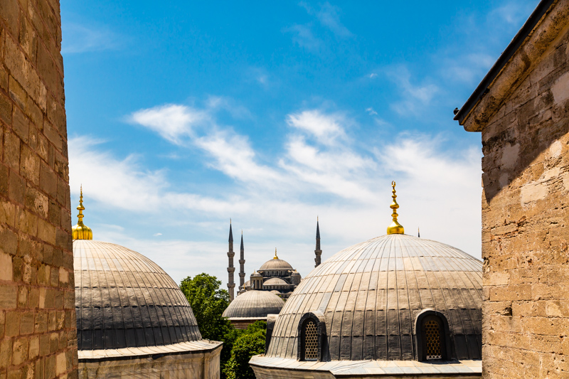 Blue Mosque behind Cupolas | Istanbul, Turkey by Robert Metz