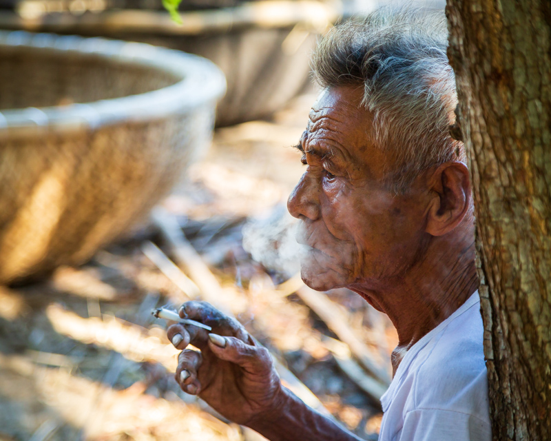 The Old Smoking Basket Boat Builder | Hội An, Vietnam by Robert Metz