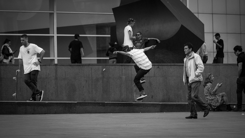 Skater at Macba | Barcelona, Spain by Robert Metz