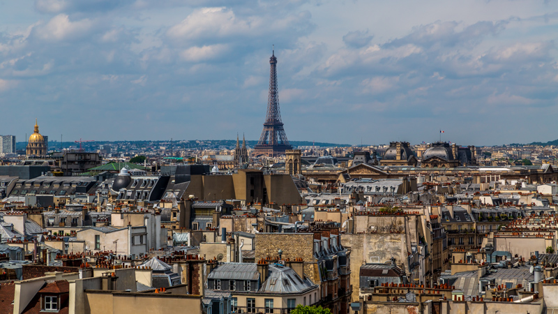 Cityscape Paris with Eiffel Tower | Paris, France by Robert Metz