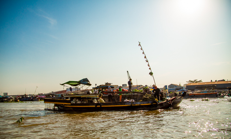 Salesboat at Floating Market | Mekong-Delta, Vietnam by Robert Metz
