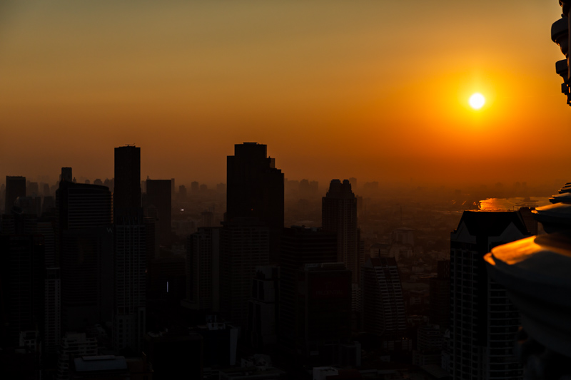 Sunset over the City | Bangkok, Thailand by Robert Metz