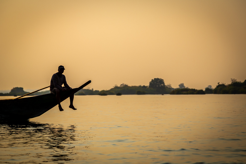 On Mekong River | 4000-Islands, Laos by Robert Metz
