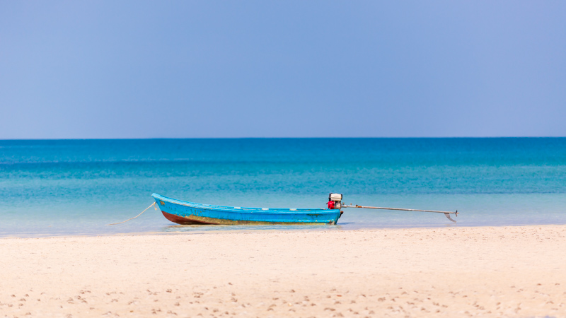 Boat at the Beach | Koh Rong Samloem, Cambodia by Robert Metz